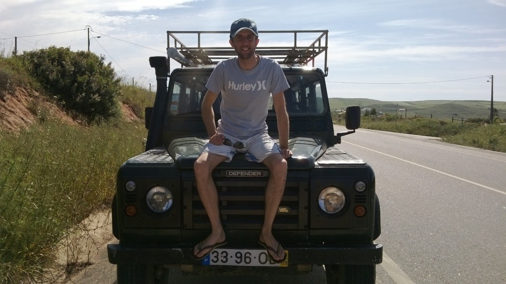 Adam on jeep