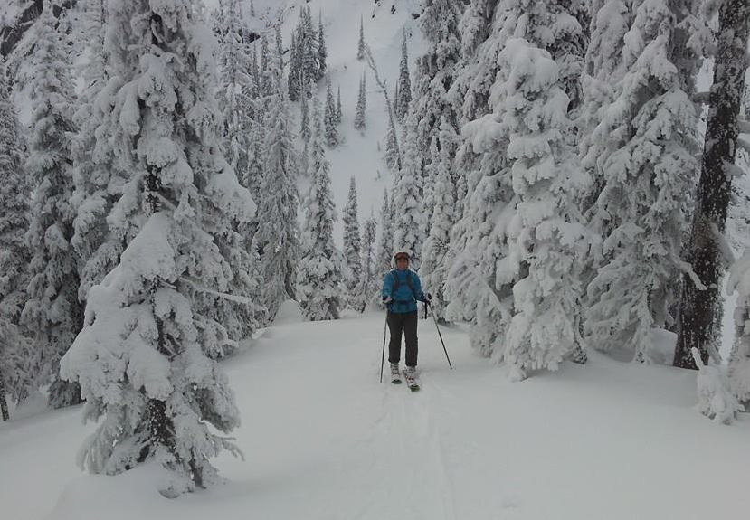 Robyn Backcountry Skiing